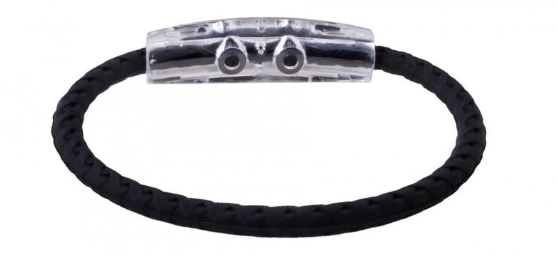 IonLoop Jet Black Braided Sport Bracelet (back view)