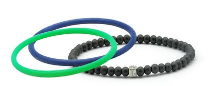mag/fusion Royal Blue + Apple Green  Pak 1 mag/fusion magnetic Bracelet, 2 IonThins  ( Royal Blue + Apple Green )