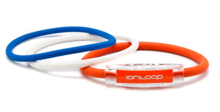 TRI Loop Orange Crush Pak  1 Orange Crush Magnet IonLoop Bracelet, 2 IonThins (Royal Blue, Pearl White)