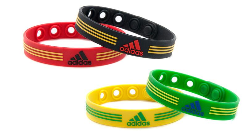 Yellow & Green  Set & Red & Black Set - adidas Adjustable Bracelet -
