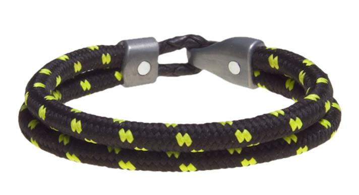 ONYX GREEN Dual Cord Bracelet (inside & black)
