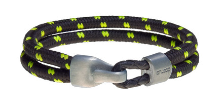 ONYX GREEN  Dual Cord Bracelet (front)