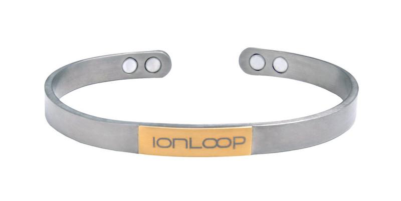NEW IonLoop  TiCuff  Titanium Magnet Bracelet  (front showing magnet placement view)
