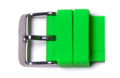 2 Green Watch Loops Buckle not included.