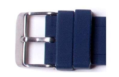 2 Navy Blue Watch Loops Buckle not included.