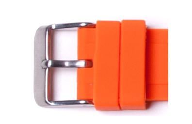 2 Orange Watch Loops  Buckle not included.