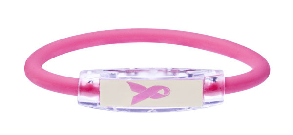 IonLoop Pink Ribbon Hot Pink Bracelet (front view)