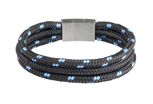 Black/Blu Tri-Cord Black/Blu Bracelet (back)