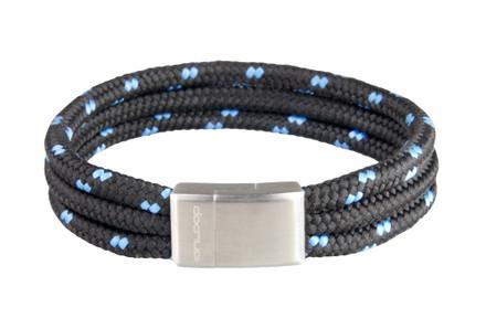 Black/Blu Tri-Cord Black/Blu Bracelet (front)