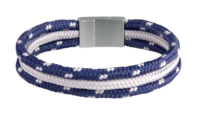 Tri-Cord Navy/Gray Bracelet (back)