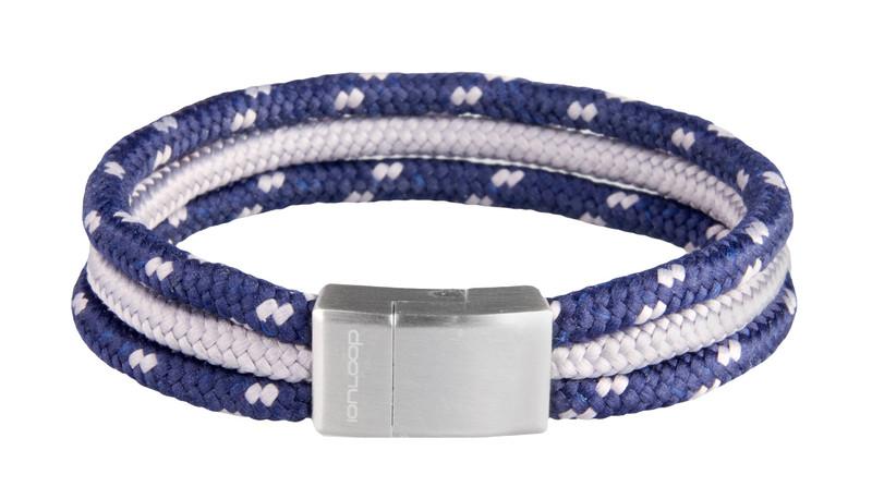Tri-Cord Navy/Gray Bracelet (front)