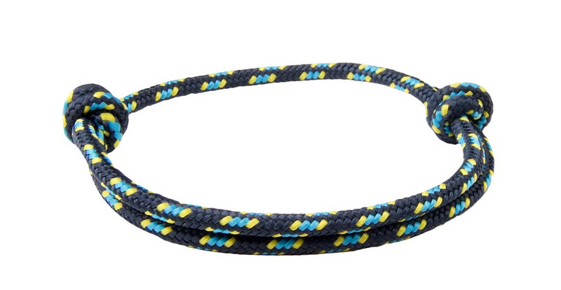 Black Denim Cord  Slide Knot Bracelet - Back