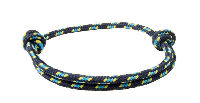 Black Denim Cord  Slide Knot Bracelet - Back