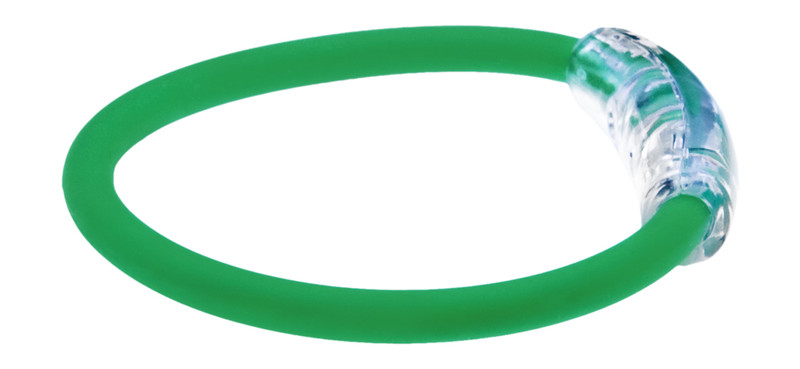 IonLoop Emerald Green Bracelet (side view)