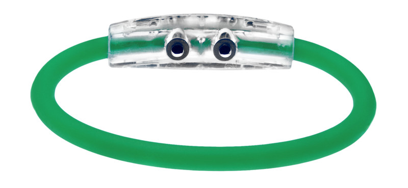 IonLoop Emerald Green Bracelet (back view)
