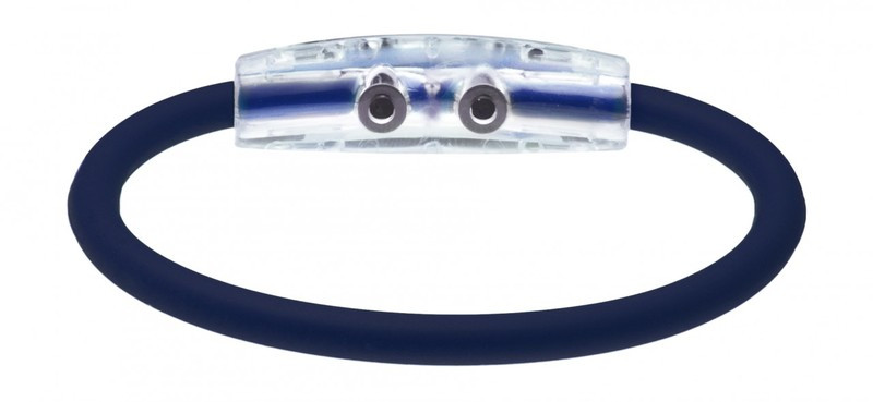 Golf 1 Navy Magnetic and Ion Bracelet (back view)