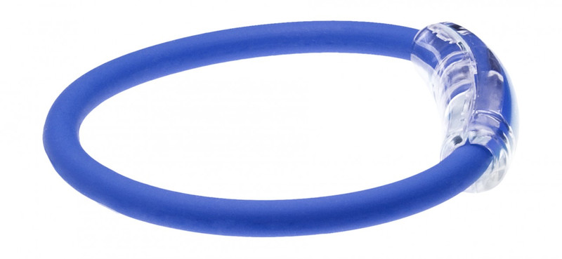 IonLoop Royal Blue Bracelet (side view)