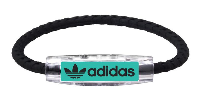 adidas Original  Teal -Black Braided Bracelet (front view)