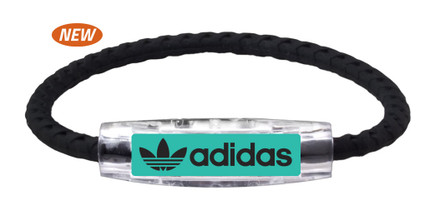 adidas Original  Teal -Black Braided Bracelet (front view)