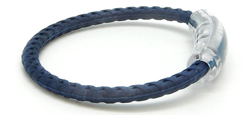 adidas Navy Blue Braided Bracelet (side view)