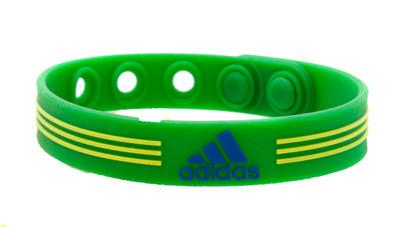 Irish Green adidas Adjustable Bracelet - front