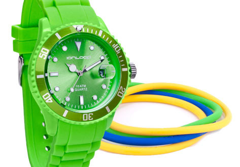 Thin-Time Pak Bundle - Apple Green IonTime Watch and four colored IonThins.