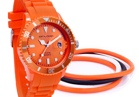 Thin-Time Pak Bundle - Orange IonTime Watch and four colored IonThins.