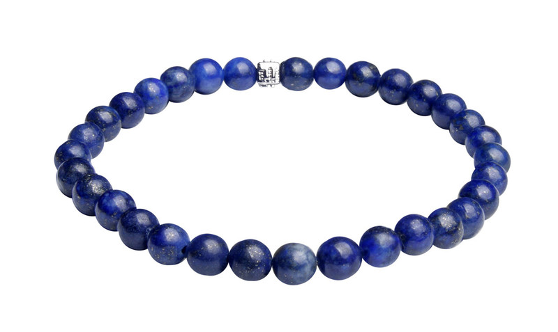 IonLoop  Dark Blue Lapis Stone Bead Bracelet. (front view)
