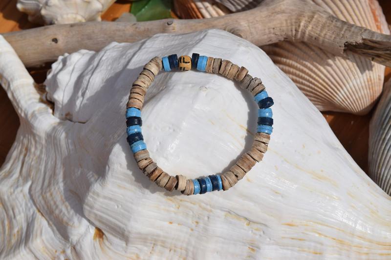 NEW! Coconut  Shell Bead Bracelet
