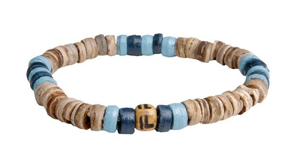 IonLoop Sand + Sea Coconut  Shell Bead Bracelet (front view)