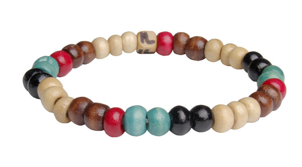 Sandalwood Bead  Color Blast Bracelet (back)