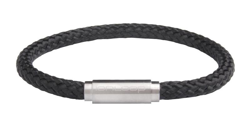 Solo Cord Black Negative Ion Bracelet (front)