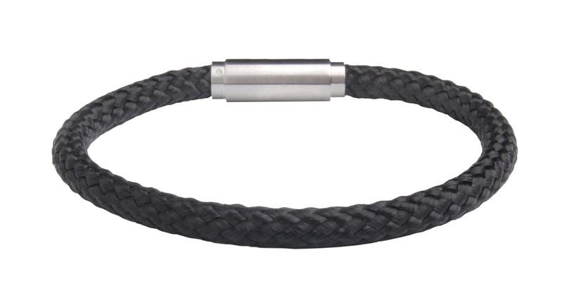 Solo Cord Black Negative Ion Bracelet (back)