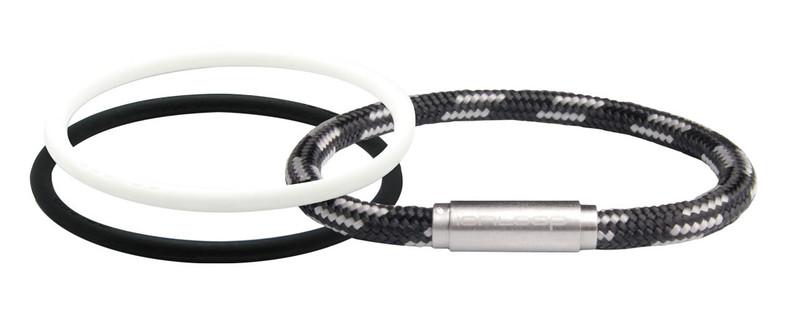 Black Gray Negative Ion Bracelet Pak 1  White IonThin 1 Black IonThin