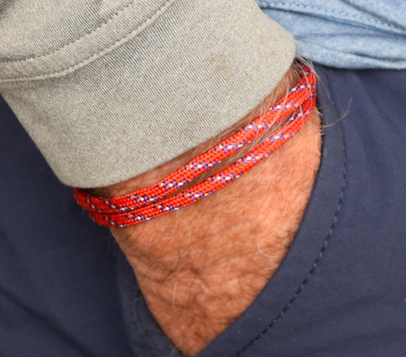 Red Cord Slide Knot Bracelet (Back)