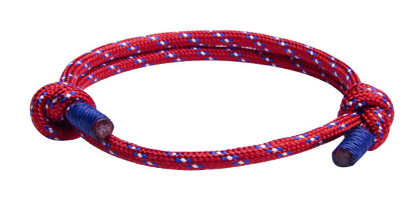 Red Cord Slide Knot Bracelet (front)