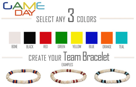 Select your three colors in the order that they are to appear on the bracelet. Simple isn't easy!