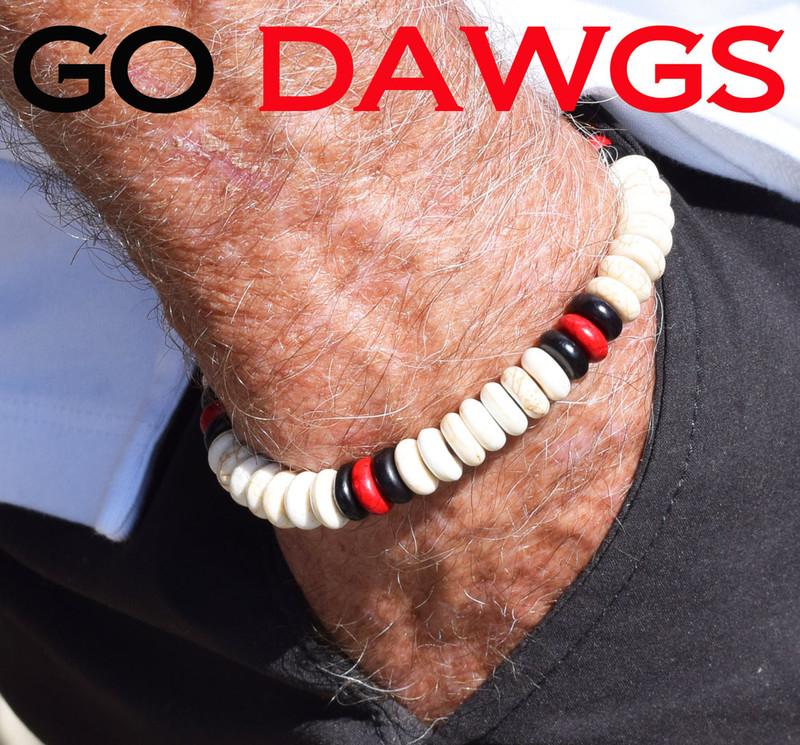 Sport a one of a kind GO DAWGS team bracelet!