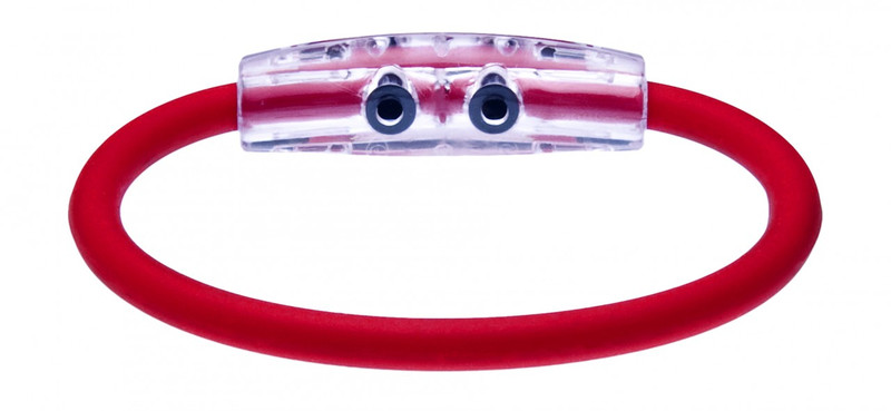 IonLoop's Indonesia Flag Bracelet with Magnets & Negative Ions (back view)