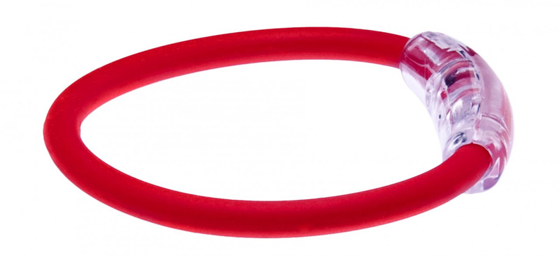 IonLoop's Indonesia Flag Bracelet with Magnets & Negative Ions (side view)