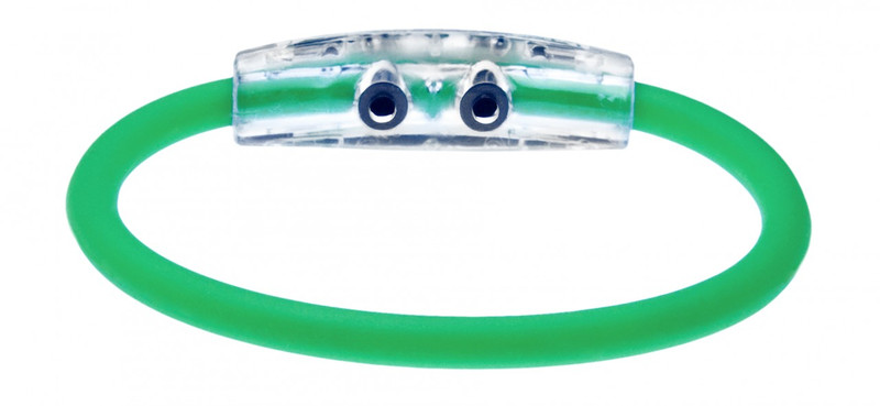 IonLoop's India Flag Bracelet wit Magnets & Negative Ions (back view)