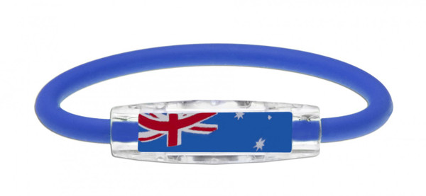 IonLoop's Australia Flag Bracelet with Magnets & Negative Ions (front view)