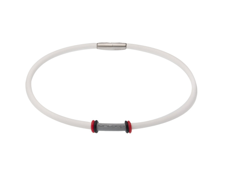 The IonLoop White Ion Necklace (full view)