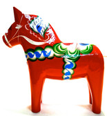 Handmade Swedish Dala Horses Red/Black/Blue
