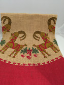 Straw Goat Christmas Tree Skirt