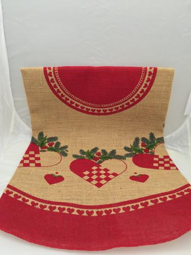 Scandinavian Heart Christmas Tree Skirt