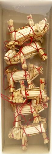 Swedish Straw Pig Ornaments