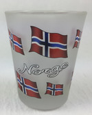 Norwegian Flag Shot Glass