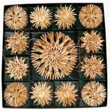 Snowflake & Star Straw Christmas Ornaments