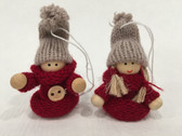 Red Sweater Boy & Girl Ornament